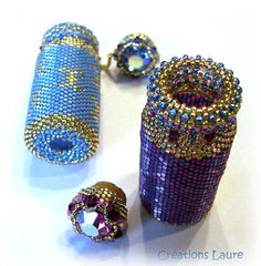 Bead pattern tutorial message in the bottle by CreationsLaure