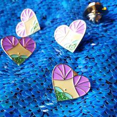 Heart of a  Mermaid Soft Enamel Pin Mermaid by CosmicMermaidPins