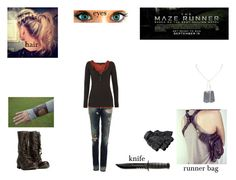 """""""maze runner oc"""" by akaiyoake ❤ liked on Polyvore featuring AllSaints, Gucci, Dsquared2 and Maison Scotch"""