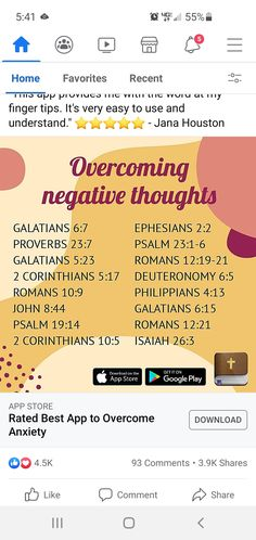 Galatians 6 7, Deuteronomy 6, Ephesians 2, Philippians 4 13, Psalms, Romans 12 19, Isaiah 26 3, Proverbs 23, Negative Thoughts