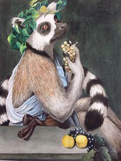Caravaggio Lemur by ByMarleyMccue on Etsy