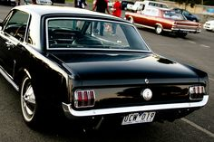 Mustang vs Fairlane by evvvvan, via Flickr