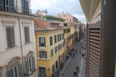 View of Rome Streets from my Hotel Window.
