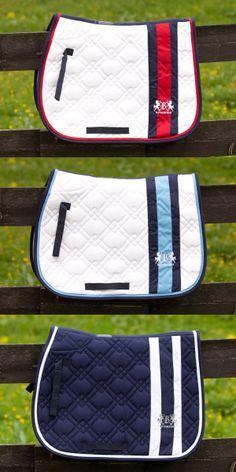 B Vertigo Isaac All Purpose Saddle Pad - A plush, quilted pad featuring beautiful seasonal contrast stripes and logos.