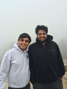 On Nandi hills with tech genius Kiran..