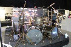 Yamaha Tommy Aldridge Custom Carbon Set #Drums #NAMM #Yamaha
