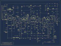 Map of Alt Music History. Designer James Quail based the poster's design on a circuit board from a transistor radio.