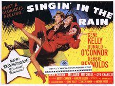 poster Gene Kelly, Old Movie Posters, Classic Movie Posters, Classic Movies, Film Posters, Donald O'connor, Lee Van Cleef, Rita Moreno, Singin In The Rain