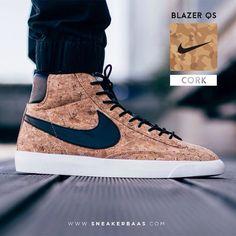 "#nikeblazer #nikeblazercork #nikecork #sneakerbaas #baasbovenbaas  Nike Blazer QS ""Cork"" - The Nike Blazer is one of the first ever basketball sneakers that Nike designed, and it still is a awesome sneaker.  Now online available! | Size 40.5 - 45 EU | Priced 114.95 Euro!"