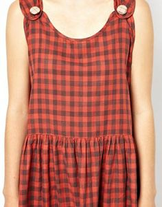 Lowie Prairie Pinafore Dress in Gingham from ASOS