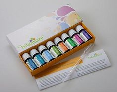 Top Blends Aromatherapy Essential Oils Kit - 8 10ml bottles. Great for DIY projects like Lotion Soap Bath Bombs or Bath Salts. Also for an Aromatherapy Diffuser. Perfect Gift Set. Includes dropper!