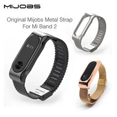 Cheap bracelet toggle, Buy Quality bracelet gift directly from China strap mount Suppliers: Original Mijobs Metal Strap Band For MiBand 2 Wristbands Stainless Steel Bracelet For Xiaomi Mi Band 2 Replace For Mi Band 2 Best Health Tracker, Jeep Accessories, Wearable Device, Smart Bracelet, Gadget Gifts, Metal Bracelets, Stainless Steel Bracelet, Consumer Electronics, Stuff To Buy