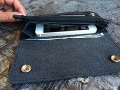 Mens Black Leather Accordion Wallet, great gift idea for him for Christmas, Valentine's Day, or stocking stuffer. Will fit Apple iPhone 5, 5c, 5s & 6 Carrier (Not 6 Plus). Genuine Leather, Durable Wallet, Made in SoCal, USA. The wallet includes ID slot, zippered coin compartment, bill holder. http://aftcra.com/americancraftsman10/listing/5571/mens-accordion-wallet-apple-iphone-5-5c-5s-6-carrier-genuine-leather-durable-wallet-made-in-socal-usa