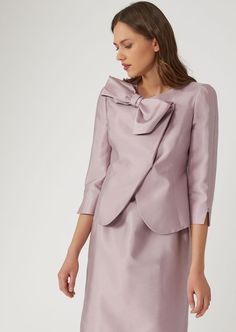 e4c49473b94 Jacket in cotton and silk satin Armani Jacket, Blazers For Women, Jackets  For Women