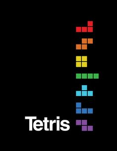 Tetris used the rule of thirds here to orientate their graphic icons in an interesting fashion Retro Video Games, Video Game Art, Retro Games, Tetris, Mundo Dos Games, Playstation, 8 Bits, Rule Of Thirds, Nintendo
