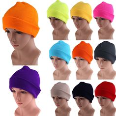 >> Click to Buy << 21 Color High Quality Hats Female Winter Beanies Solid Candy Color Men Women Warm Cuff Plain Knit Ski Long Beanie Skull Cap #Affiliate