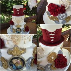 Sweet Expressions Custom Cake and Party Design Home Page Steampunk Wedding, Themed Weddings, Steam Punk, Wedding Cakes, My Love, Sweet, How To Make, Inspiration, Wedding Gown Cakes