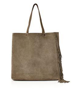 ALLSAINTS Club New Lea Fringe Tote. #allsaints #bags #hand bags #suede #tote #