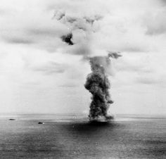IJN Yamato's place of death is marked with a mushroom cloud that was reportedly visible from the Japanese mainland. April 7, 1945 [4,505 x 4,325]