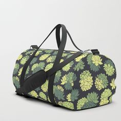 Green Succulents Pattern Duffle Bag #faerieshop #tropical #floral #succulents #plants #lotus #pattern #water #lily #flowers #drawing #art #liles #blossom #green #ornament #shopping #society6 #bags #gym #gymbags #buy #buyonline