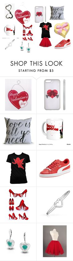 """""""happy valentine day"""" by raven-536 on Polyvore featuring Puma, Bling Jewelry, women's clothing, women, female, woman, misses and juniors"""