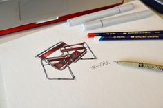 Antonio VALIENTE Medina: Ilustracion x3 capas ispirada en la LA SILLA WASSILY