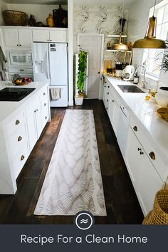 Sauce and smoothie spills can be a recipe for disaster. Keep your kitchen clean with a machine washable rug from Ruggable. Home Decor Kitchen, Kitchen Redo, Kitchen Remodel, Kitchen Design, Luxury Kitchens, Home Kitchens, Dream Home Design, House Design, House Rooms