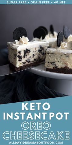 Rich and creamy, and totally sugar-free! This Keto Cookies Sugar Free Desserts, Low Carb Desserts, Healthy Dessert Recipes, Keto Snacks, Low Carb Recipes, Snack Recipes, Ketogenic Recipes, Ketogenic Diet, Breakfast Recipes