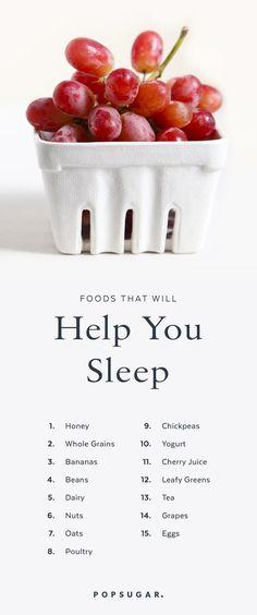 15 Foods to Help You Sleep #InsomniaNight