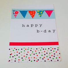 Washi tape card DIY happy birthday