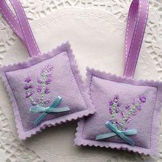 felt lavender bag