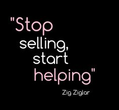 Stop selling...