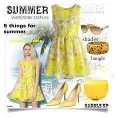 5 THINGS FOR SUMMER by chris-hawkins on Polyvore featuring Chicwish, Jimmy Choo, Tod's, summerstaples, saddleup and FabulousFashionAccessories