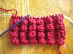 Knooked Bobbles By Ronda Chapman 2011 Supplies: Worst yarn G Knook hook Notes: Double Crochet Cluster: 3 double crochet together ** Across . Cute Crochet, Crochet Motif, Crochet Crafts, Crochet Yarn, Yarn Crafts, Crochet Hooks, Form Crochet, Loom Knitting, Knitting Stitches