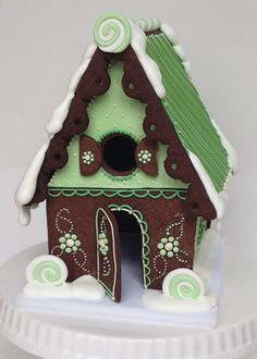 GINGERBREAD HOUSE~mint gingerbread house