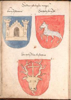 Wernigeroder (Schaffhausensches) Wappenbuch Süddeutschland, 4. Viertel 15. Jh. Cod.icon. 308 n  Folio 4v