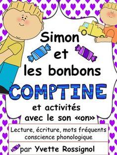 Comptine accompagnée d'une GRANDE variété d'activités remplies de mots fréquents et de structures simples. PARFAIT et amusant pour le 1er cycle!