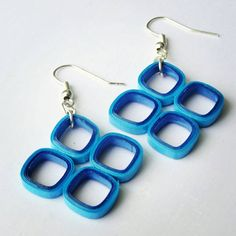 Check out this item in my Etsy shop https://www.etsy.com/listing/239983216/square-shaped-earrings-made-from-dark