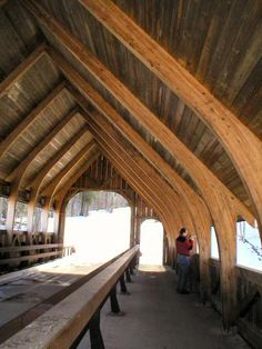 Flushing Cornwall Glulam Beam Curved Roof Structure