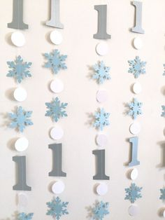 Blue and Silver Winter Birthday Decorations - Onederland Decor - 1st 2nd 3rd Frozen Themed Birthday Garland Boy/Girl - Your color choice by anyoccasionbanners on Etsy https://www.etsy.com/au/listing/258569497/blue-and-silver-winter-birthday