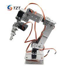 >> Click to Buy << Aluminium Robot 6 DOF Arm Mechanical Robotic Arm Clamp Claw Mount Kit w/Servos Servo Horn for Arduino-Silver #Affiliate