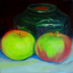 Two apples and ginger jar: day one of the 30-day back-to-school challenge for September.