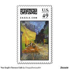 Van Gogh's Terrace Cafe Stamp