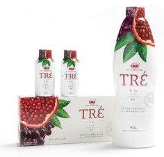 Tré pomegranate drink #packaging #design