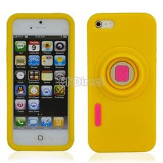 $1.74 Yellow Camera Pattern Soft Silicone Case Cover Skin Protector for iPhone 5 5G
