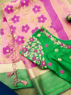 South Indian Blouse Designs, Simple Blouse Designs, Bridal Blouse Designs, Blouse Neck Designs, Maggam Work Designs, Designer Blouse Patterns, Blouse Models, Flower Designs, Embroidery Designs