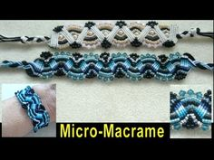 Tutorial! Micro-Macrame bracelet with Swarovski and Miyuki seed beads