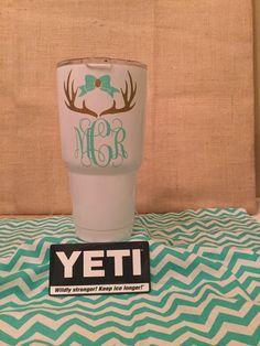 Yeti ramblers 30 oz. custom powder coated & monogrammed. by CypressRoots1 on Etsy https://www.etsy.com/listing/256252669/yeti-ramblers-30-oz-custom-powder-coated:
