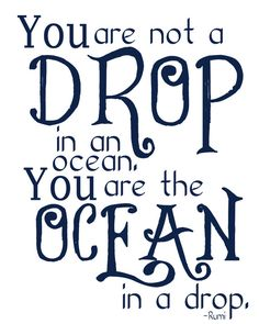 Nautical Nursery Art - You are the Ocean in a Drop  by Lexiphilia, $12.00