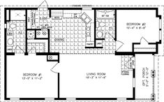 Manufactured Home Floor Plan: The Imperial Model 2 Bedrooms, 2 Baths - All For Remodeling İdeas 2 Bedroom Floor Plans, Mobile Home Floor Plans, Modular Home Floor Plans, New House Plans, Small House Plans, House Floor Plans, Small Mobile Homes, Manufactured Homes Floor Plans, Home Detox